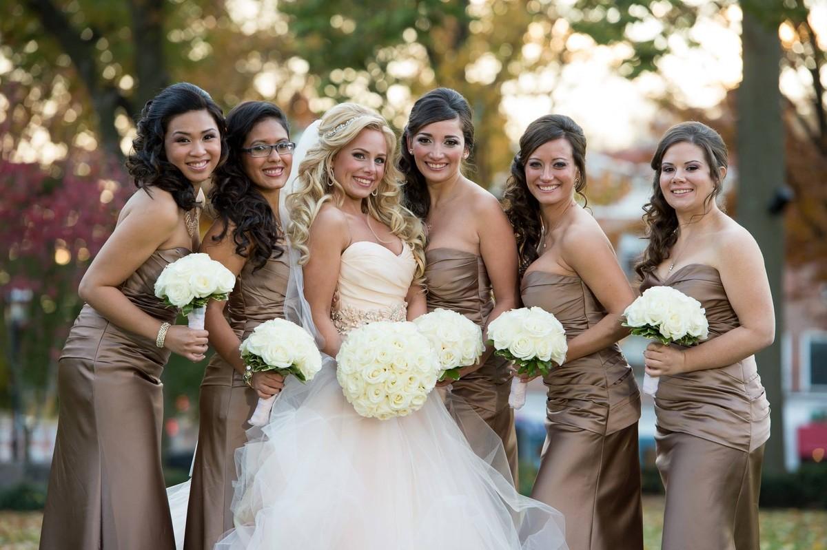 bridesmaids + bride